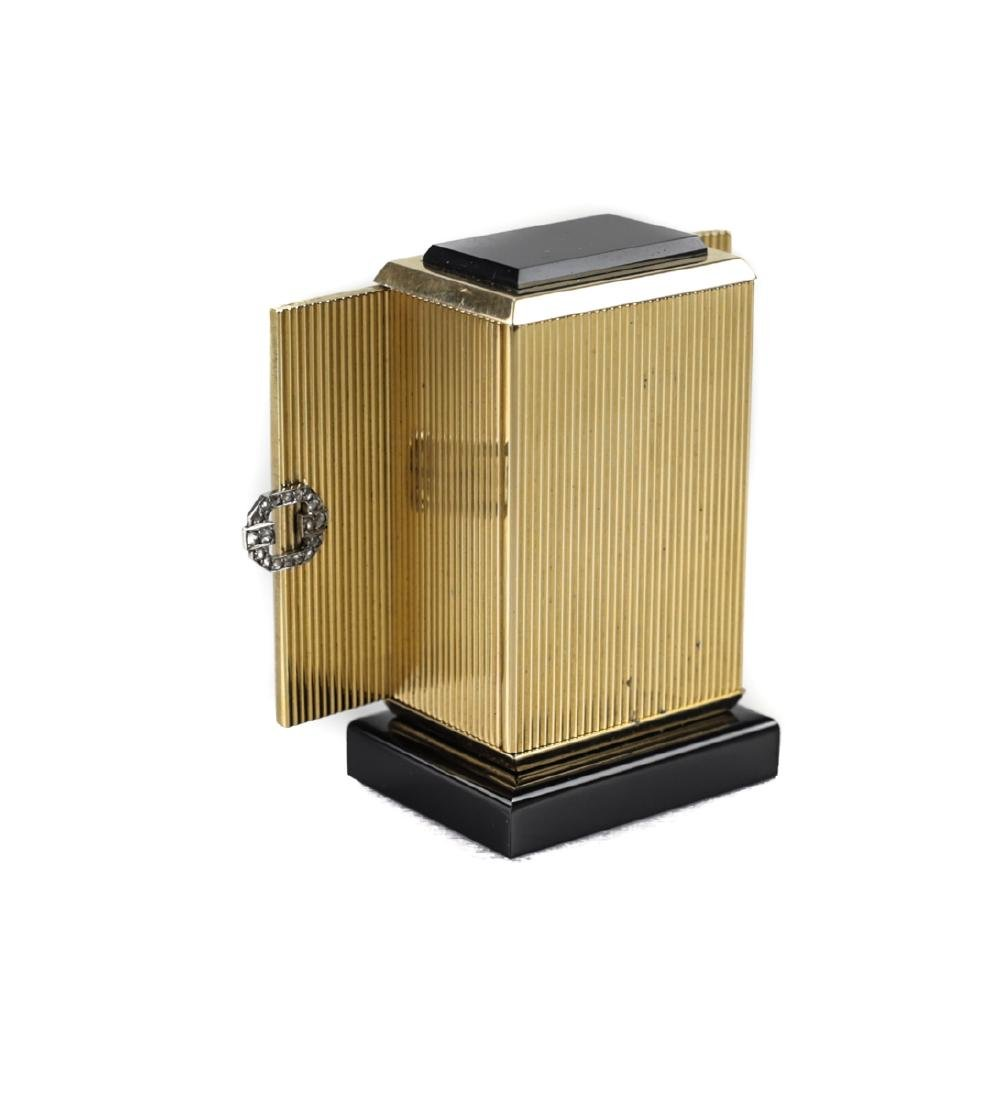 Cartier 18k Gold Miniature Table Clock - 2