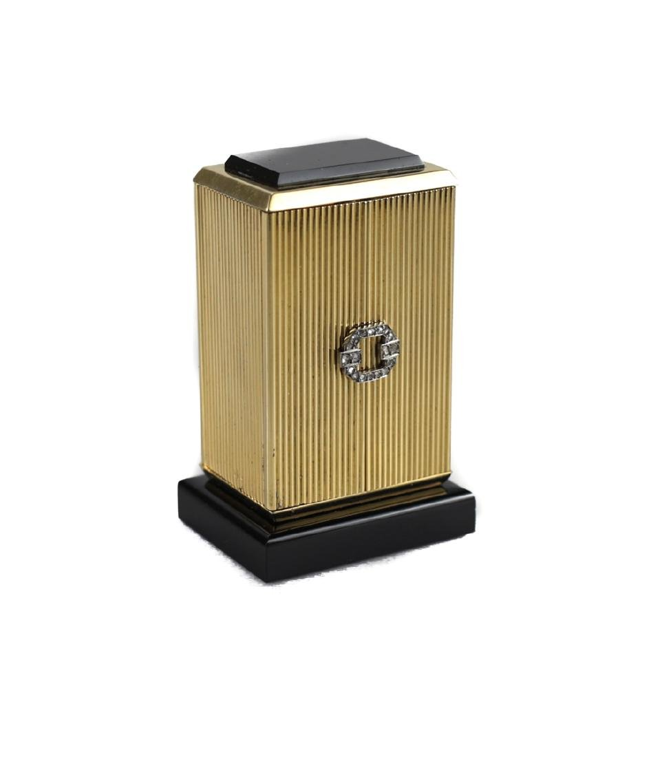 Cartier 18k Gold Miniature Table Clock - 7