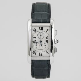Cartier Tank Americaine  18K White Gold Watch