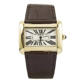 Cartier Tank Divan Large 18K Yellow Gold Watch