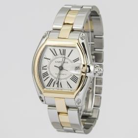 Cartier Roadster 18K Gold & Stainless Steel Watch