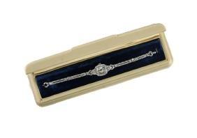 Hamilton Ladies Platinum & Diamond Watch