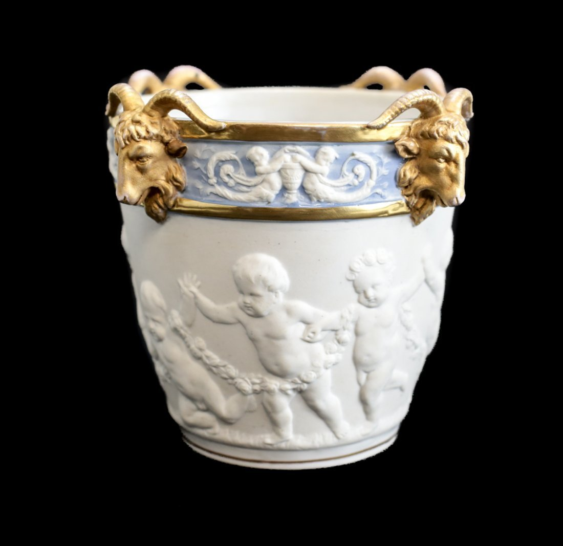 19th Century Sevres Porcelain Cache Pot - 2