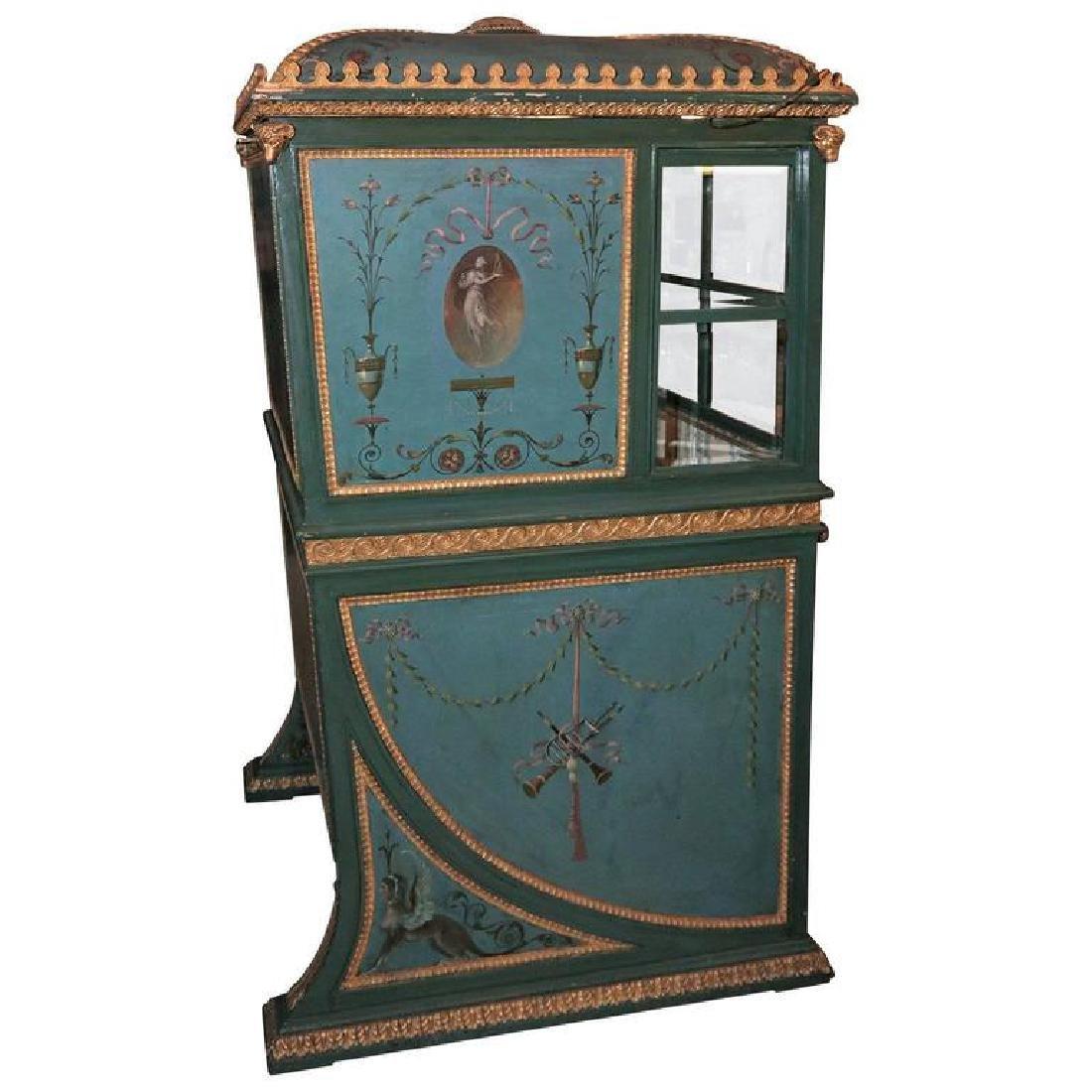 19th Century Venetian Giltwood Hand-Painted Sedan Chair