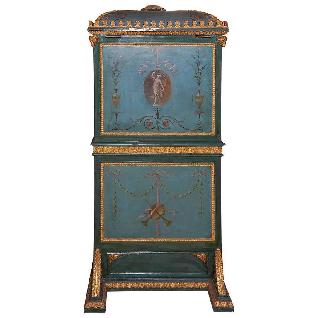 19th Century Venetian Giltwood Hand-Painted Sedan Chair - 2