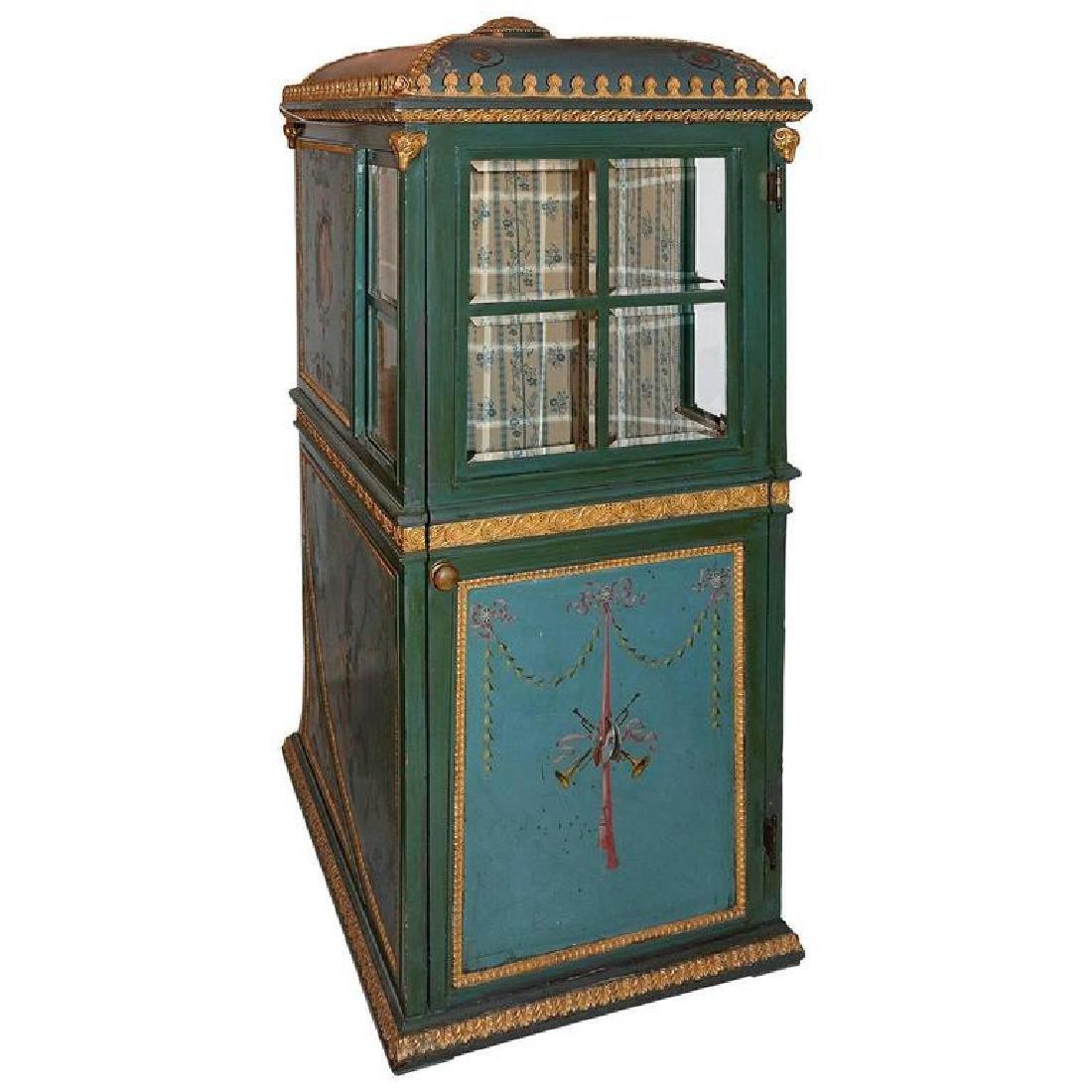 19th Century Venetian Giltwood Hand-Painted Sedan Chair - 4