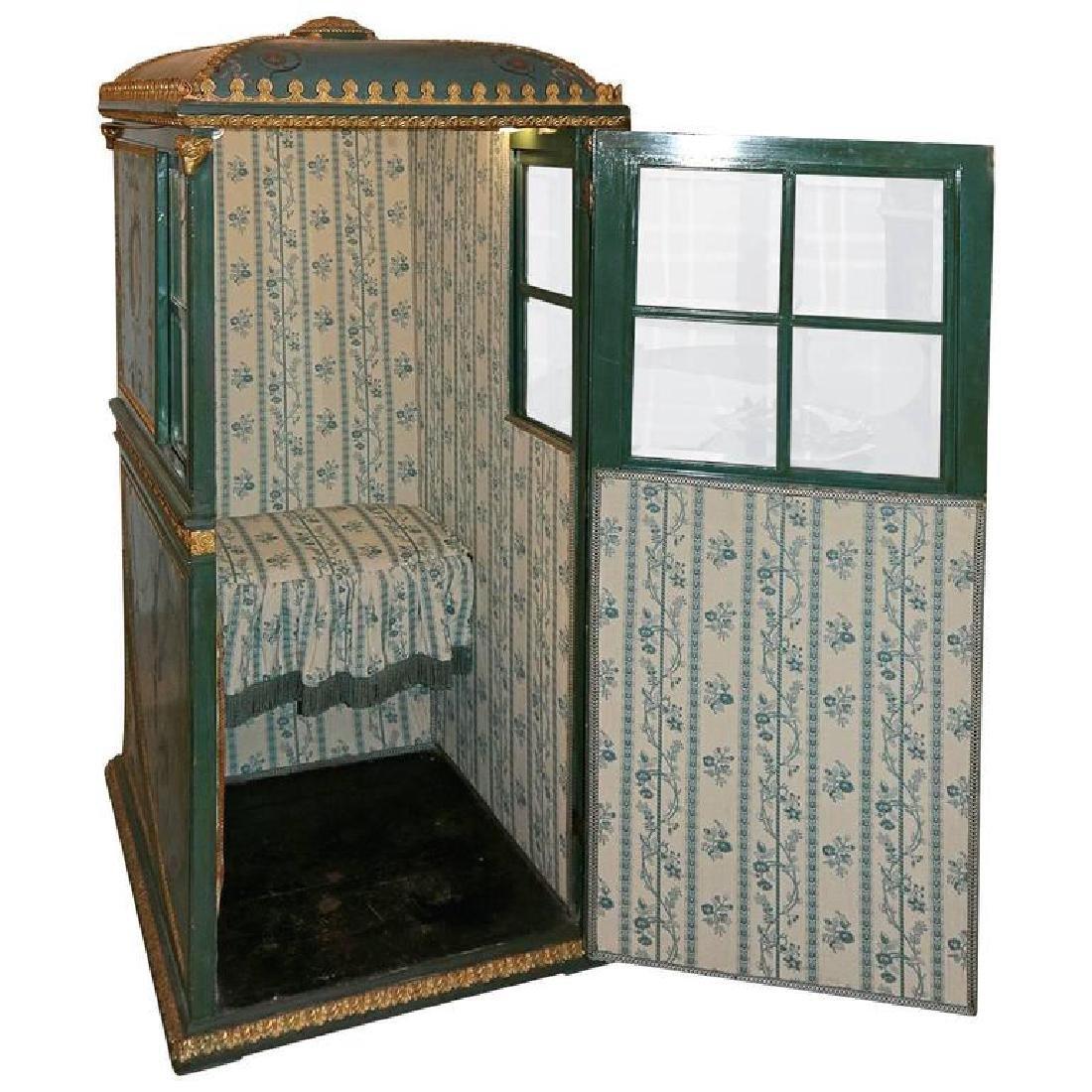 19th Century Venetian Giltwood Hand-Painted Sedan Chair - 5