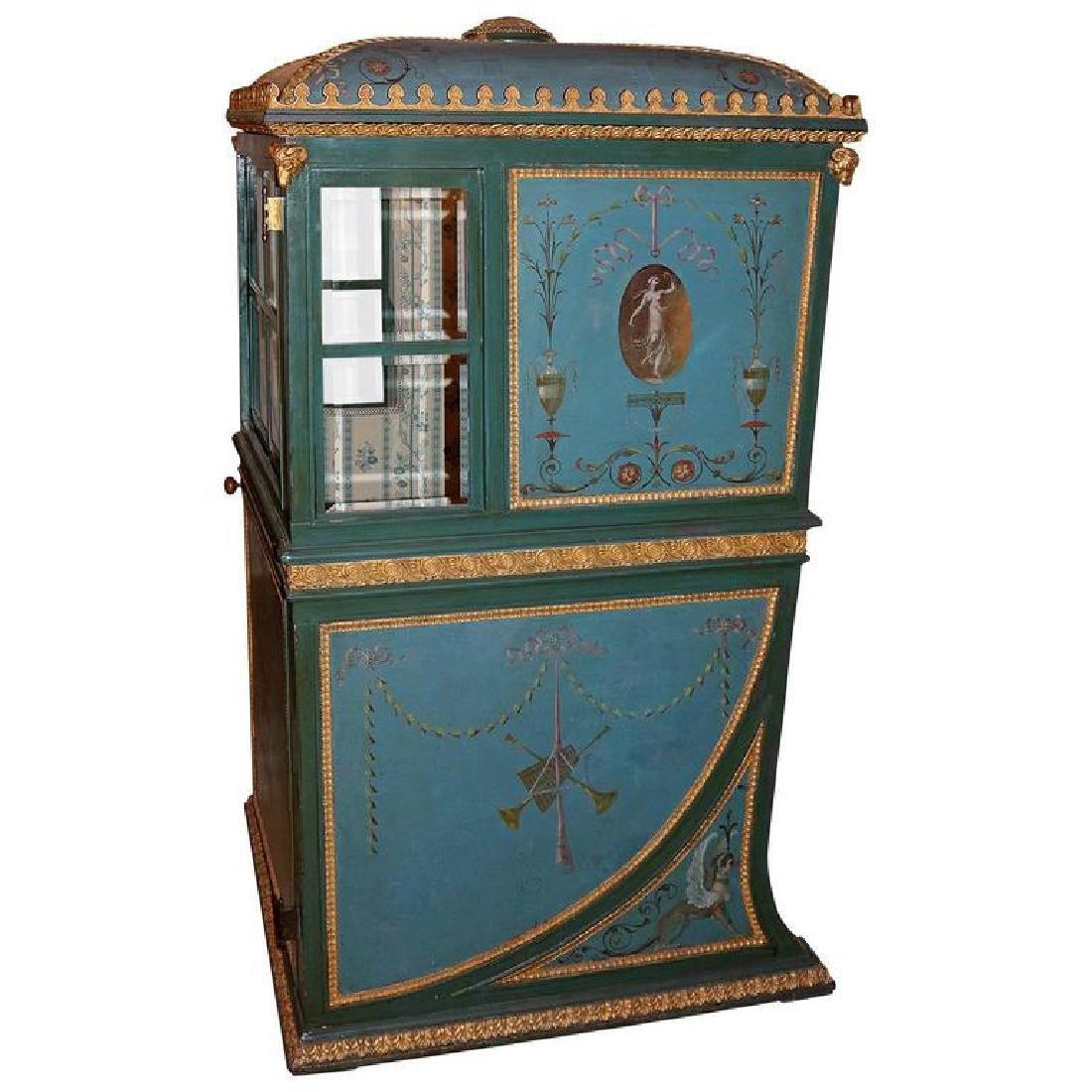 19th Century Venetian Giltwood Hand-Painted Sedan Chair - 7