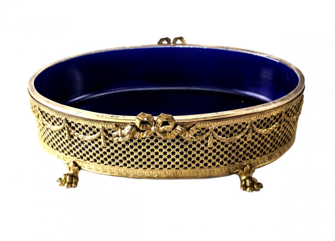 Paul Millet Sevres French Bronze Centerpiece Bowl - 2