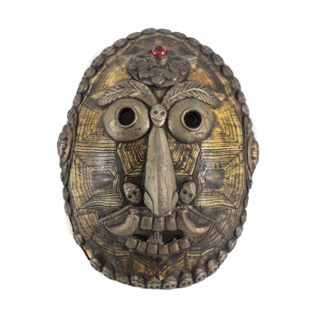 Chinese Tibet Turtle Shell Sorcerer Mask