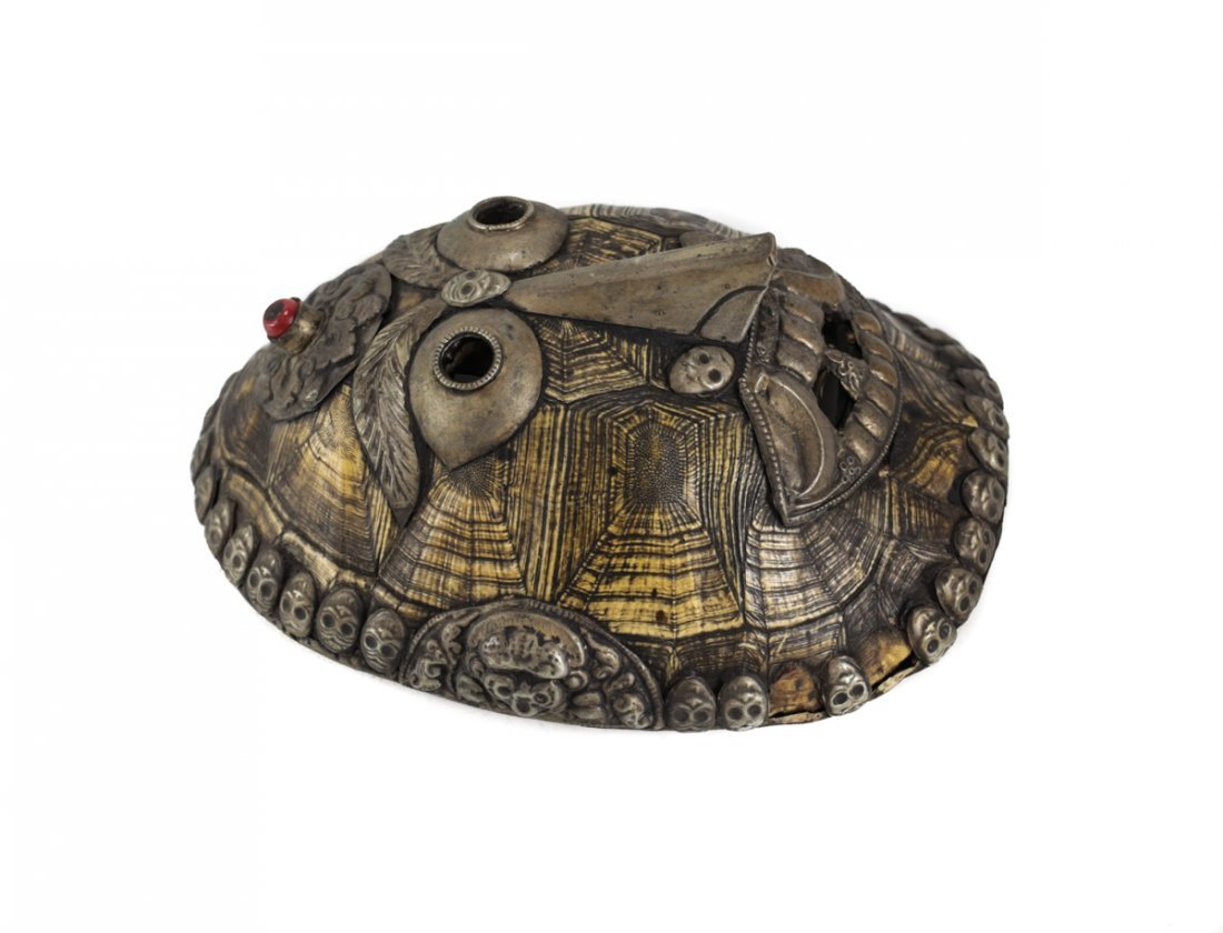 Chinese Tibet Turtle Shell Sorcerer Mask - 2