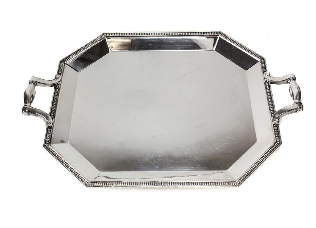 Large Christofle French Silver Plate tea Tray