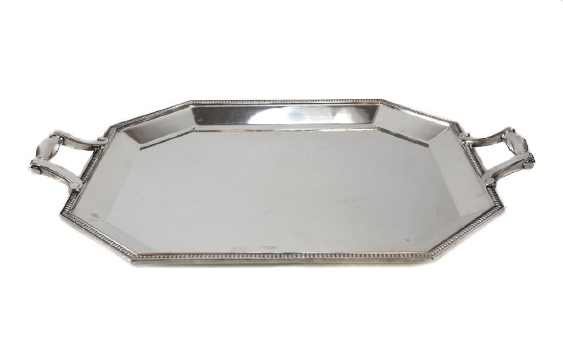Large Christofle French Silver Plate tea Tray - 2