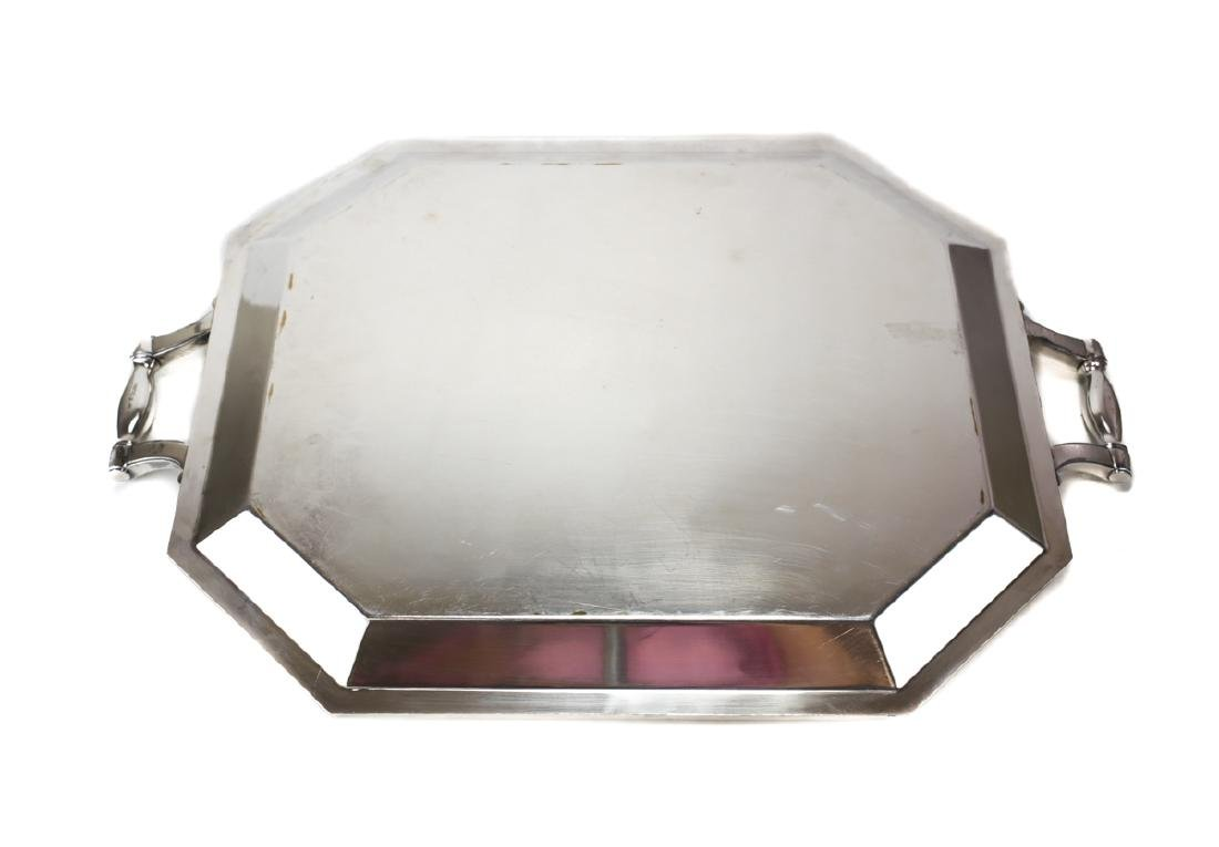 Large Christofle French Silver Plate tea Tray - 3