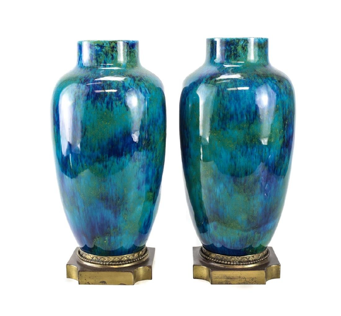 Pair of Paul Millet for Sevres Vases