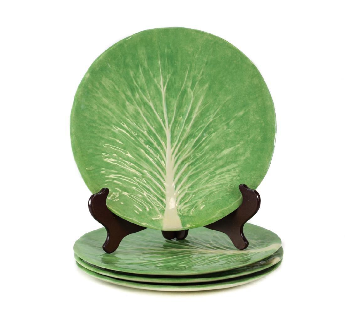 Four Dodie Thayer Lettuce Ware Dinner Plates