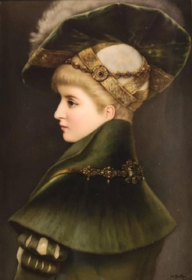 Fine KPM Porcleain Plaque of a Young Beauty by M Beetz