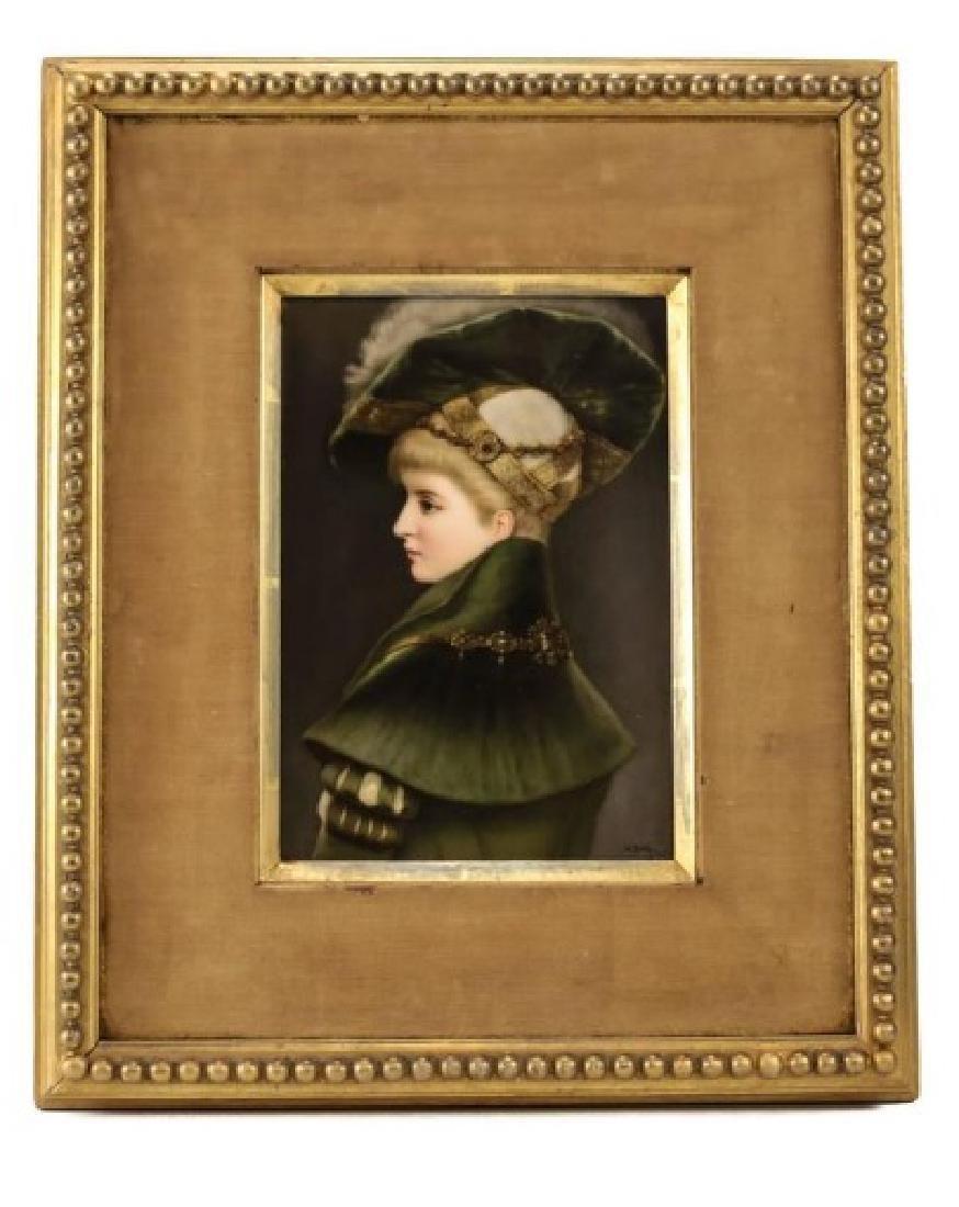 Fine KPM Porcleain Plaque of a Young Beauty by M Beetz - 2