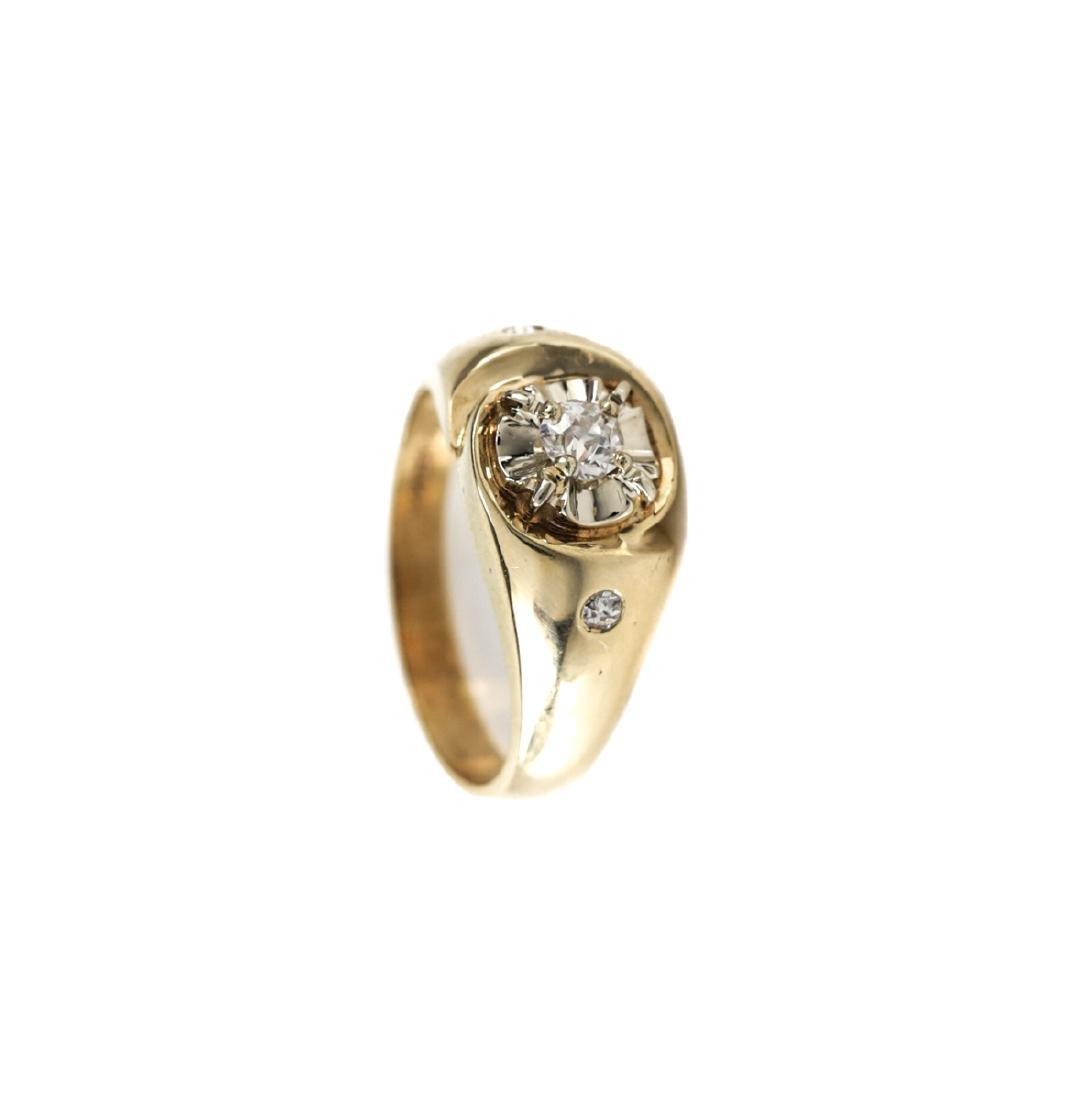 Allan Adler 14k Gold & Diamond Ring