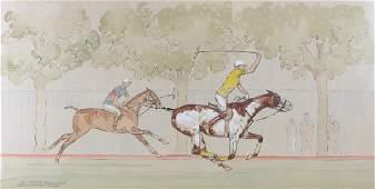 Paul Desmond Brown (20th C) Watercolor & Gauche