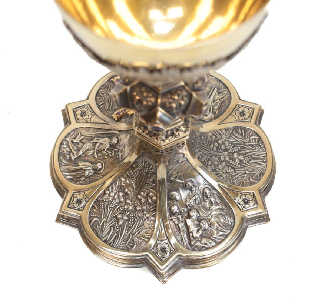Gilt Sterling Silver Chalice Cup - 4