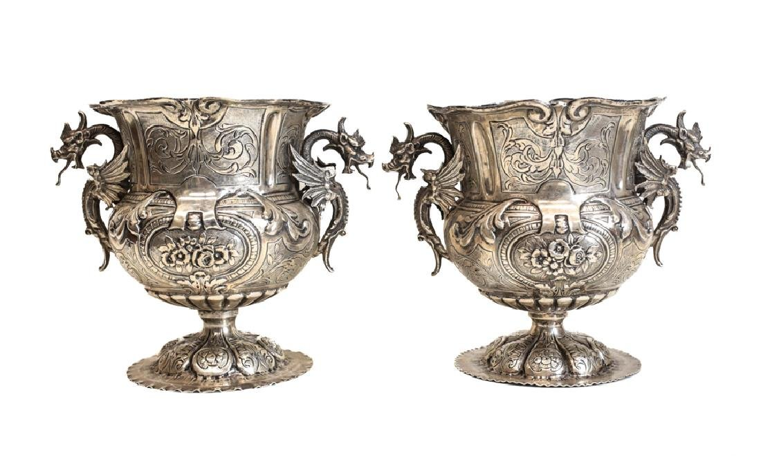 Pair of Silver Wine Coolers