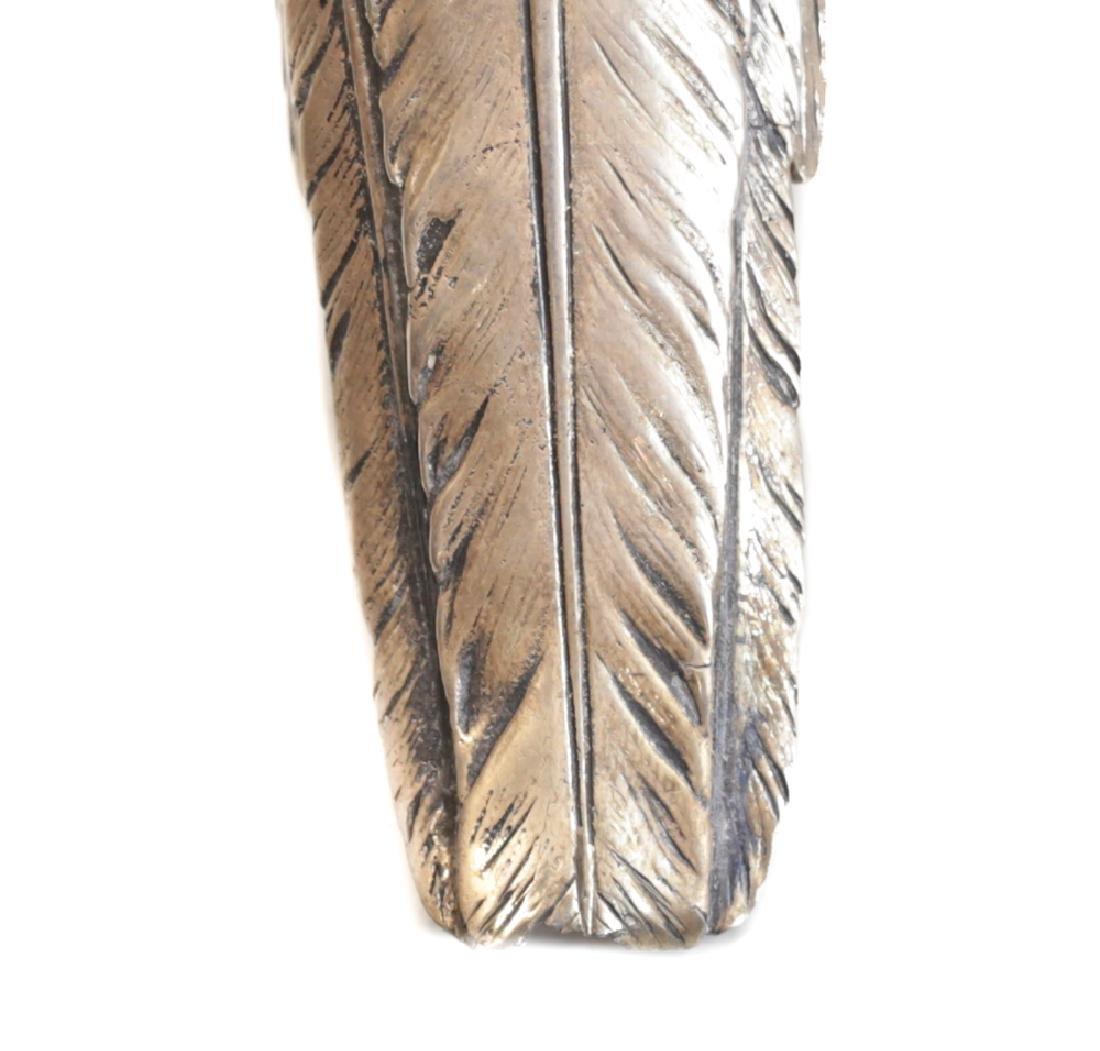 Pair Large Sterling Silver Pheasant Figures - 4