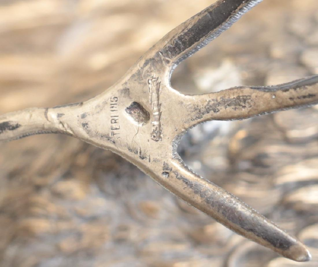 Pair Large Sterling Silver Pheasant Figures - 7