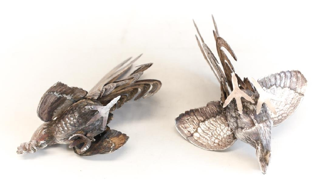 Pair of Silver Bird Figure Ornaments - 3
