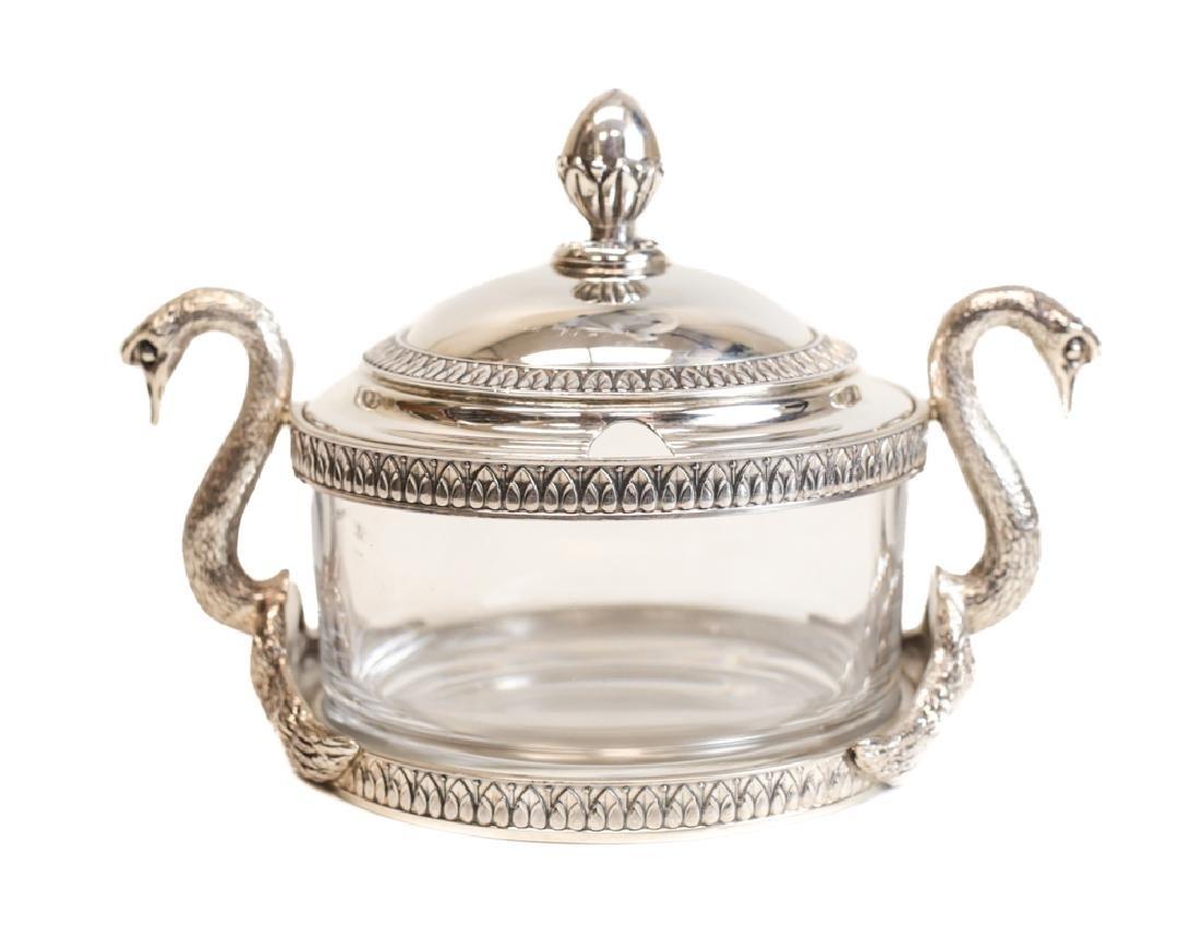 Swan Form Silver & Glass Jar by Gianmaria Buccellati - 2