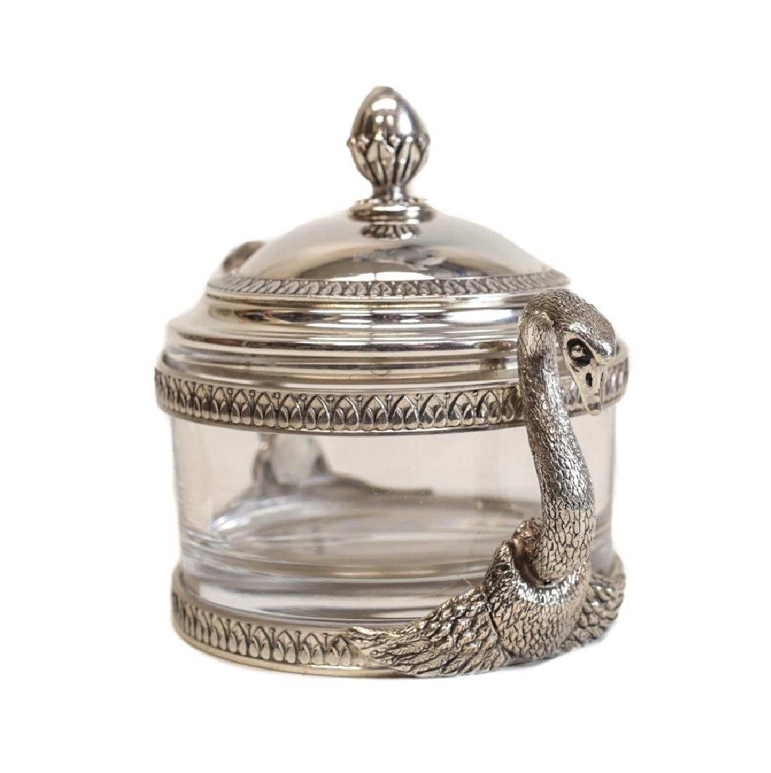 Swan Form Silver & Glass Jar by Gianmaria Buccellati - 3