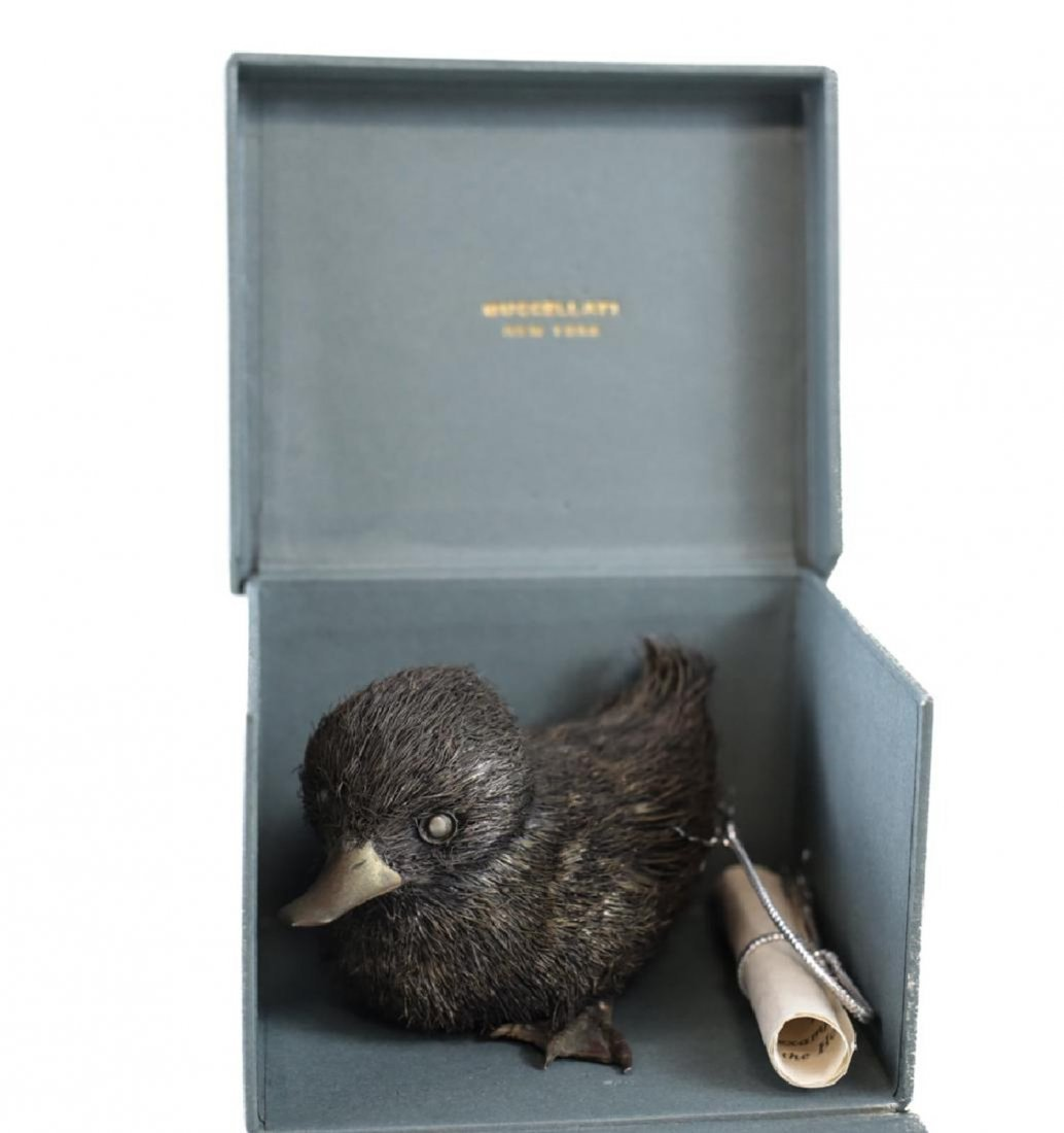 Small Furry Silver Duck, Buccellati - 3