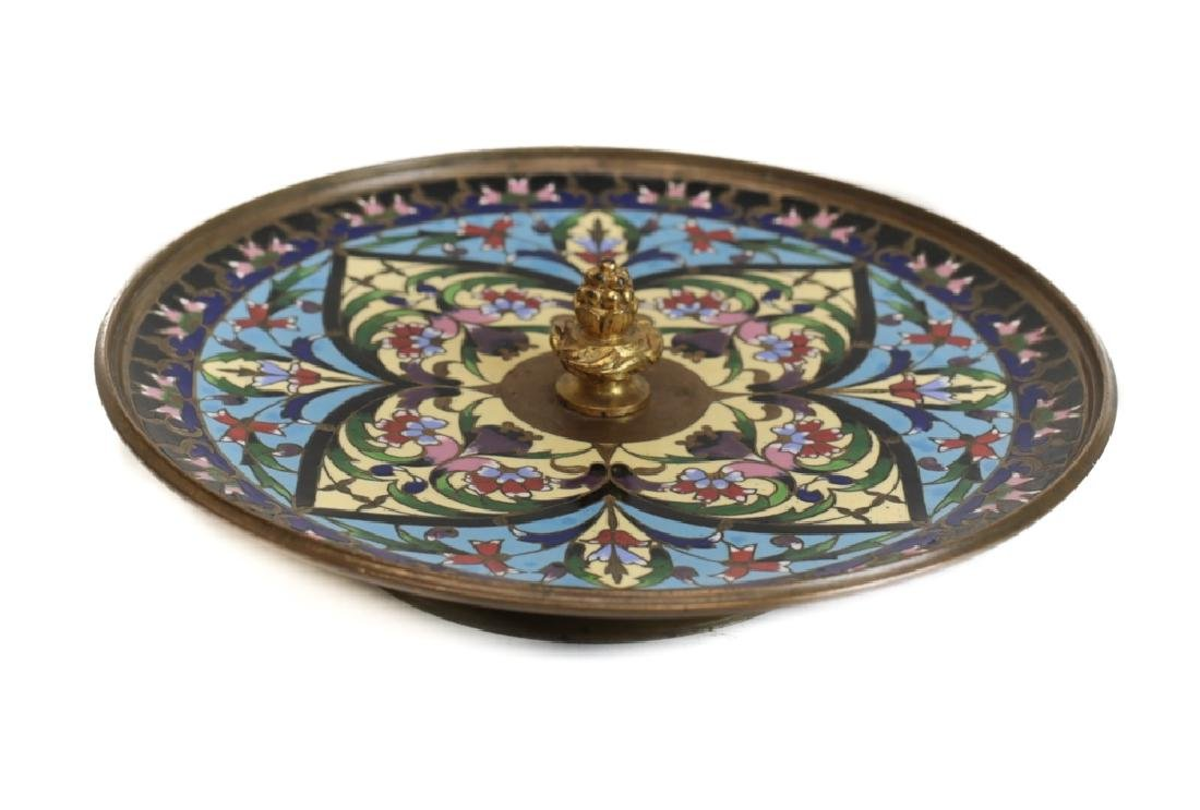 A Champleve Enamel Bronze Dish by Alphonse Giroux