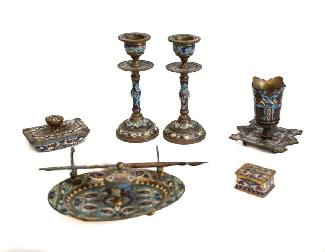 Group of Champleve Enamel  Works