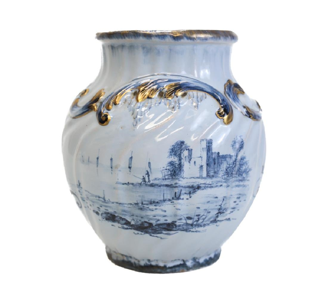 French Emile Galle Faience Vase