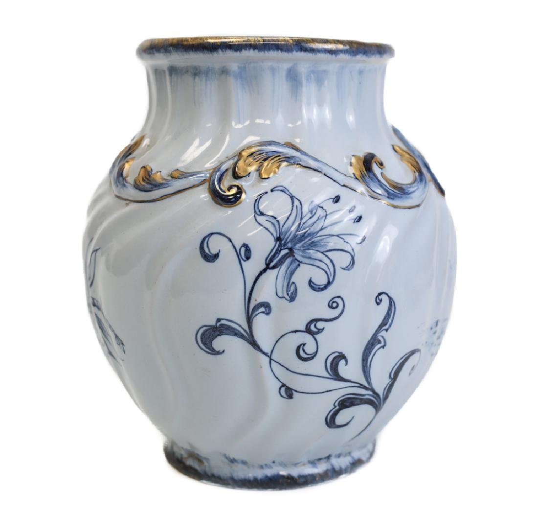 French Emile Galle Faience Vase - 2