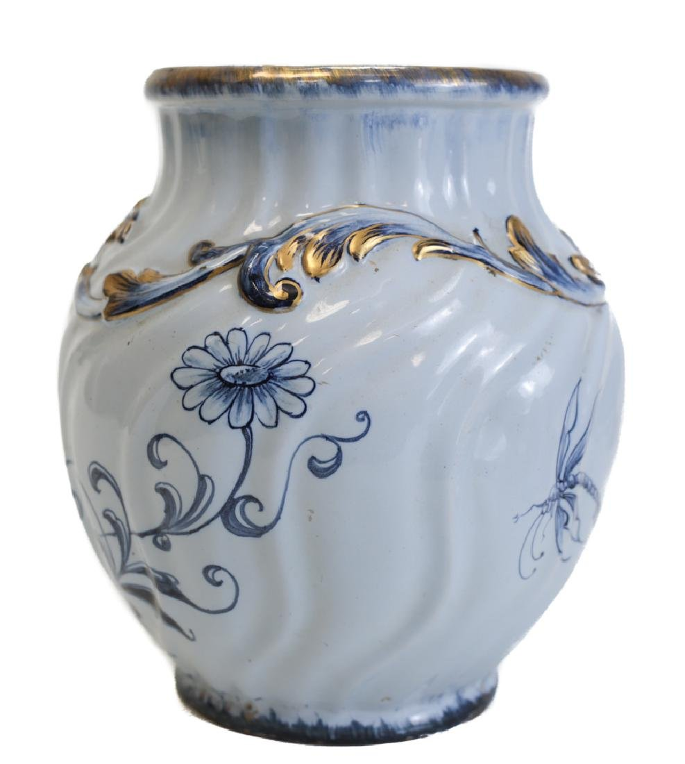 French Emile Galle Faience Vase - 3