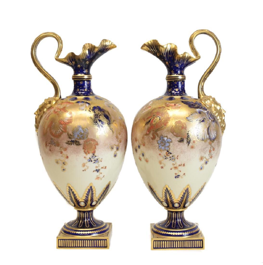 Pair Royal Crown Derby Ewers