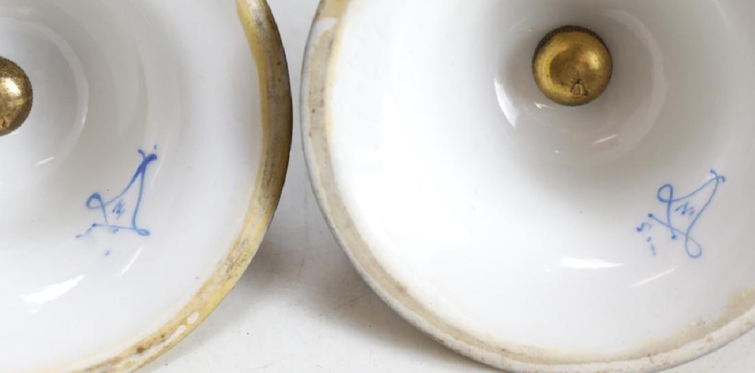 Pair Sevres Lidded Urns - 5