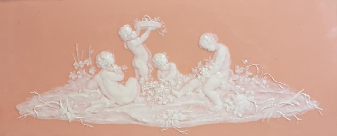 French Pate-Sur-Pate Decorated Porcelain Plaque