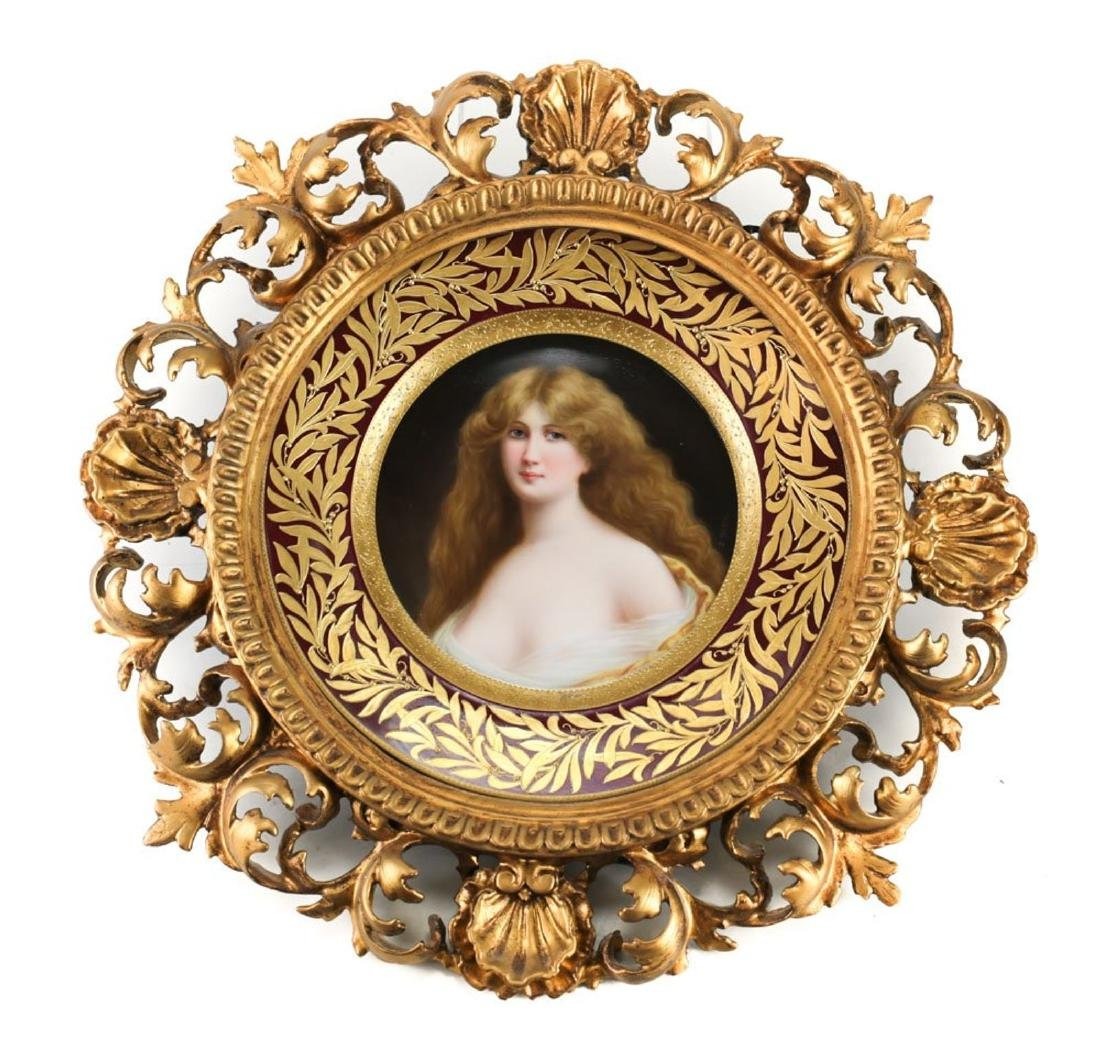Lenox & Tiffany Painted Portrait Plate