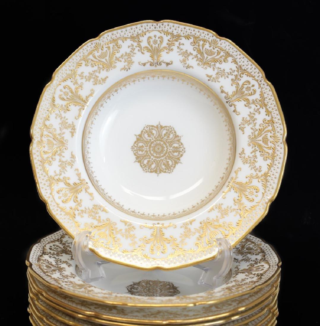 8 Royal Doulton Ornate Soup Bowls