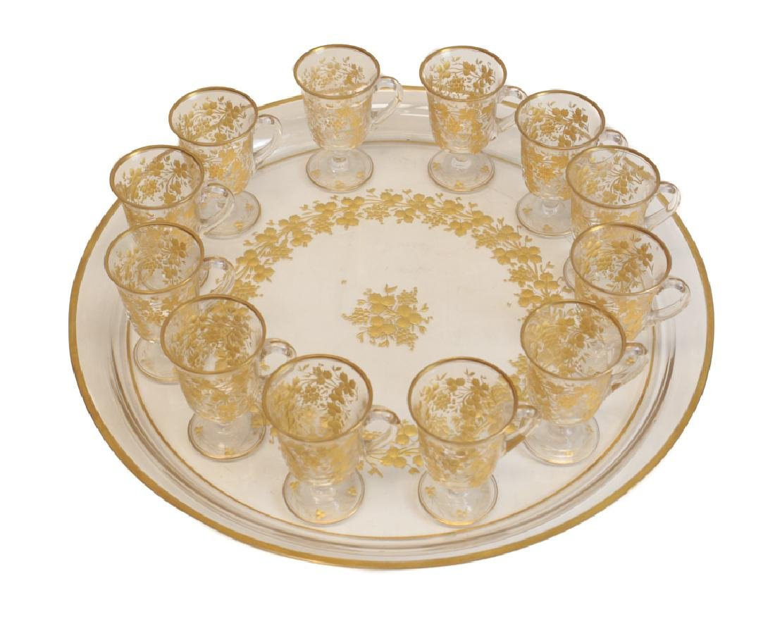 Gilt Glasses with Tray - 2