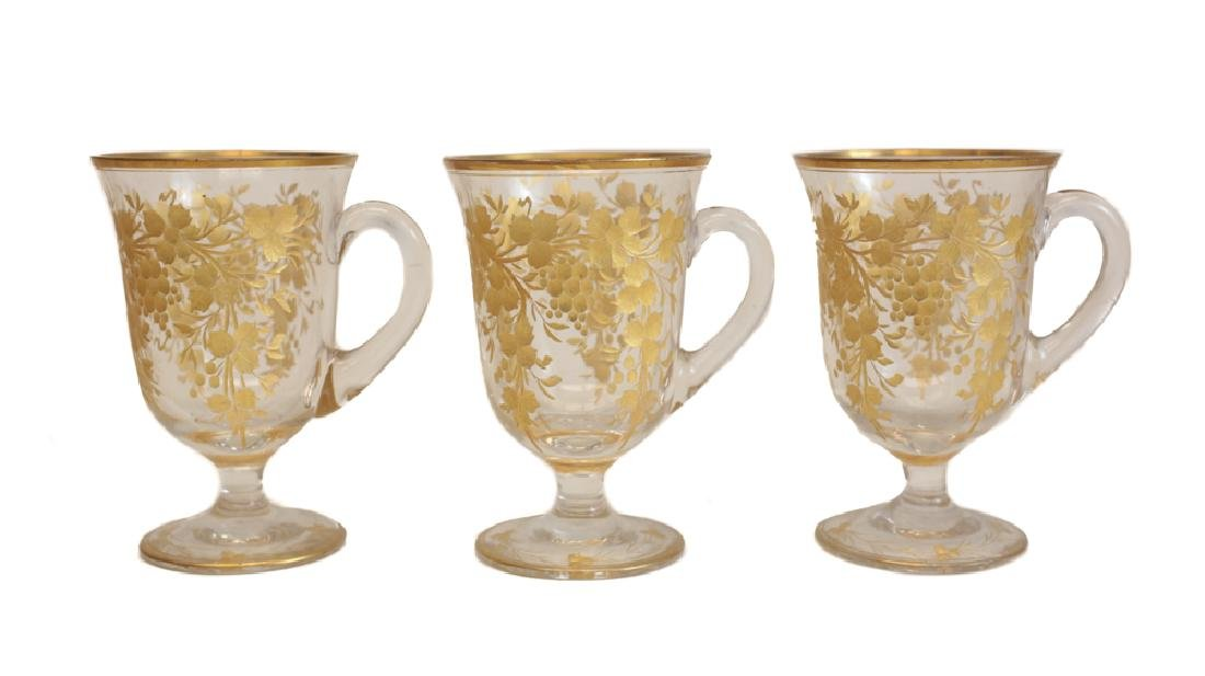 Gilt Glasses with Tray - 4