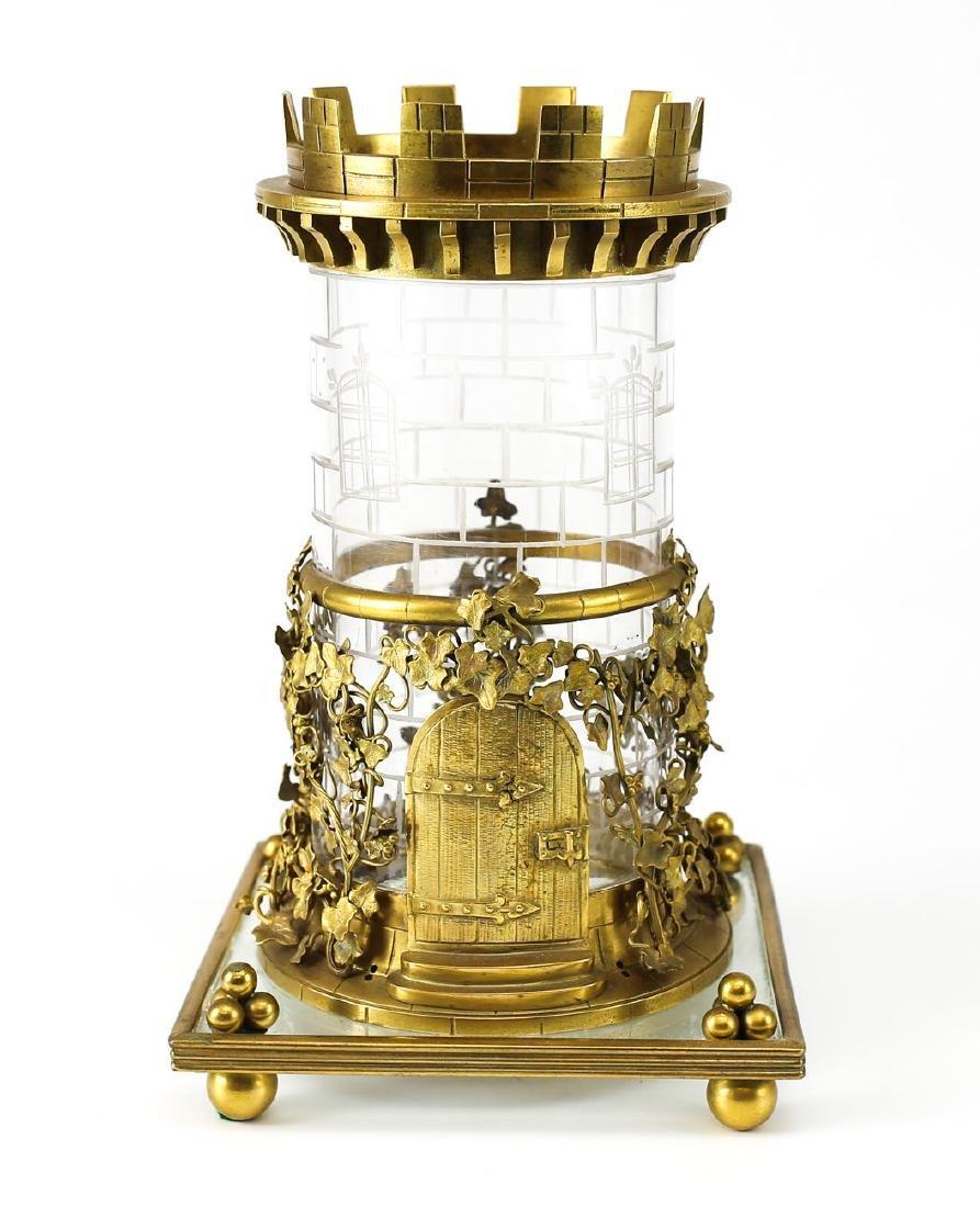 Eclectic Glass & Bronze Jar