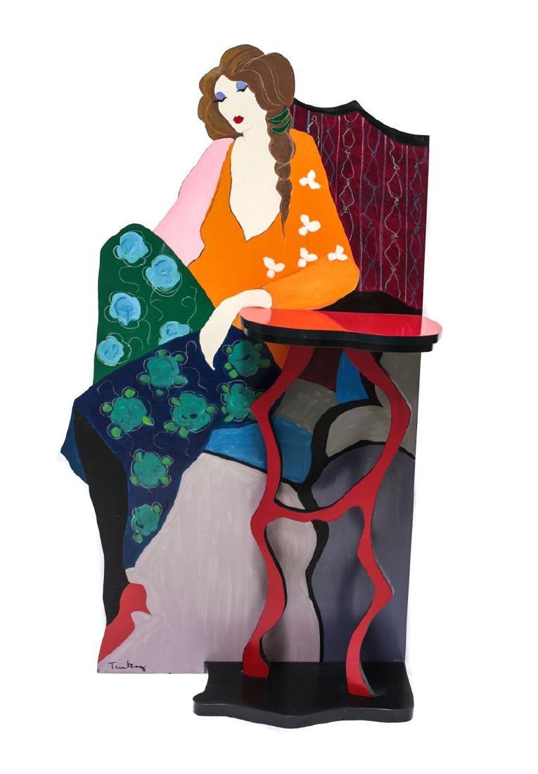 Mixed Media Sculpture by Isaac Tarkay