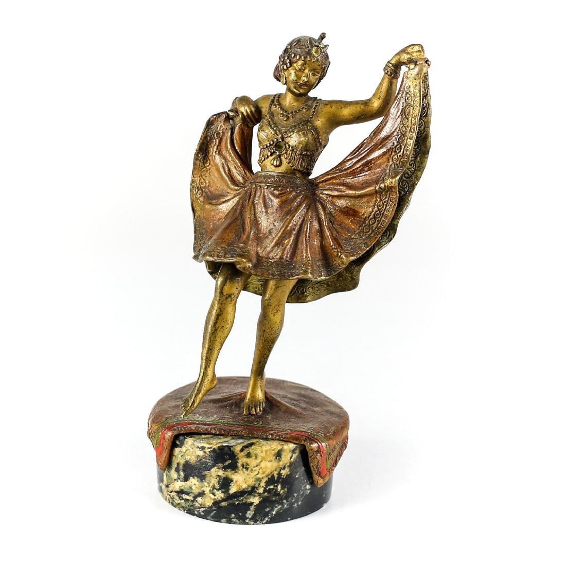 Bergman Cold Painted Bronze Figure