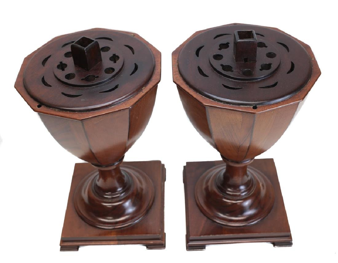 Pair Victorian Inlaid Wooden Utensil Boxes - 3