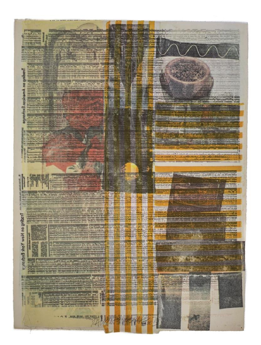 Rauschenberg, Robert American 1925-2008 Mixed Media #96