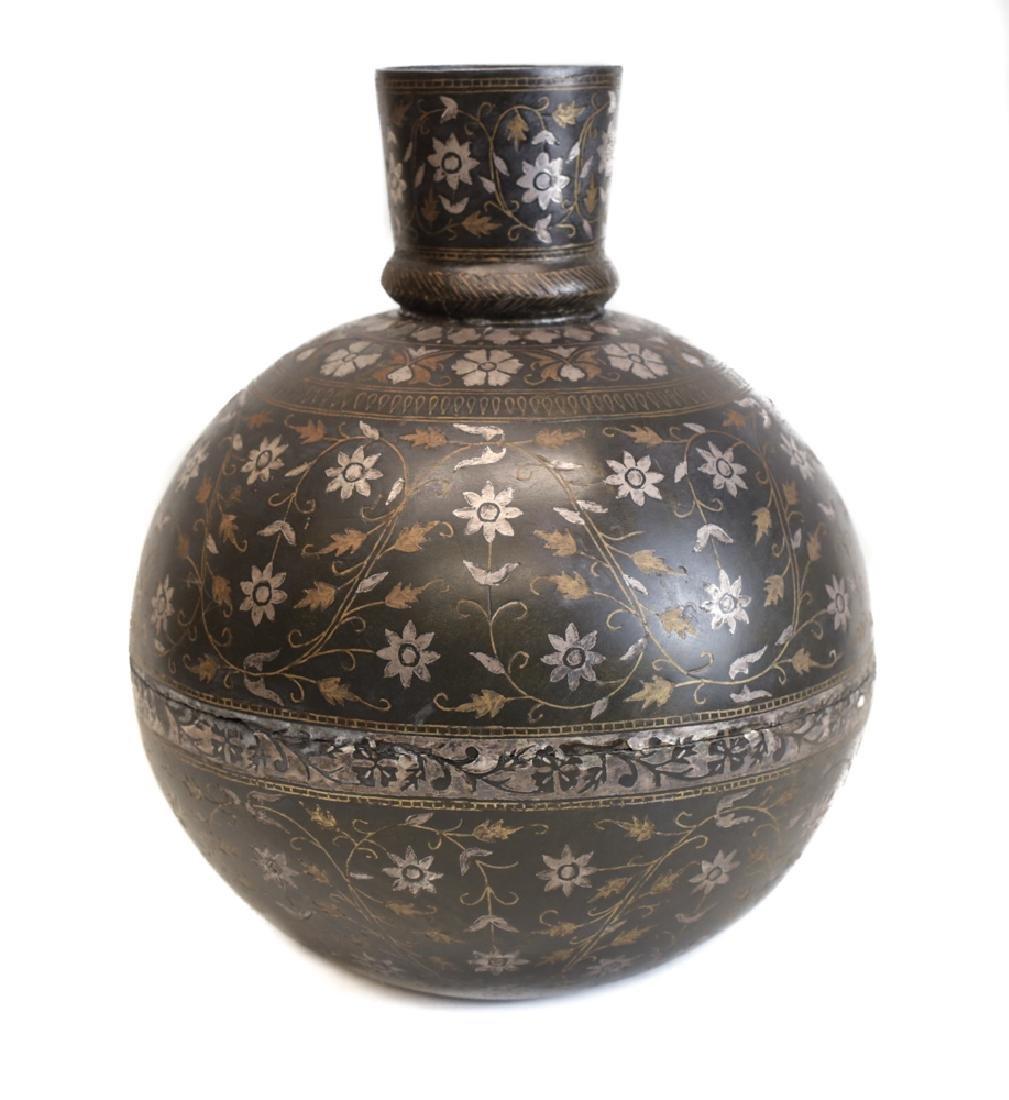 Indian Inlaid Bidri Vase